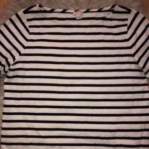 Tops - Jcrew stripped long sleeve shirt
